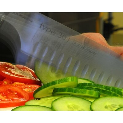 "Chroma Type 301 Granton 7.25"" Santoku Knife"