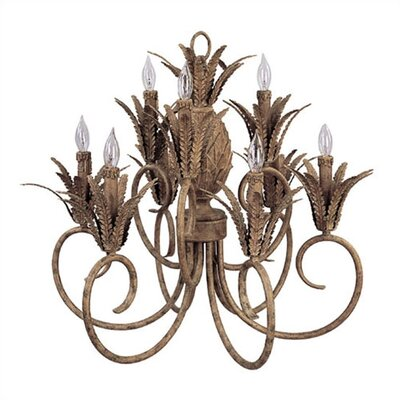 Living Well Wrought Iron 9 Light Chandelier