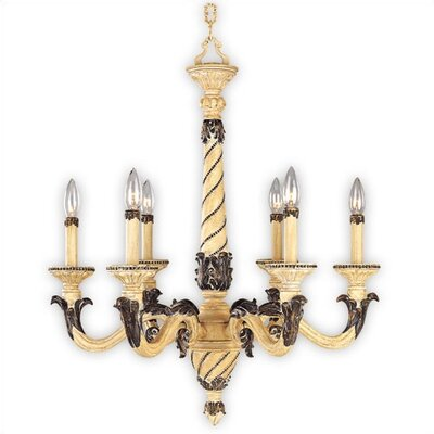 French Country 6 Light Chandelier for Sale | Wayfair