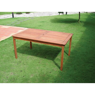 Vifah Balthazar Rectangular Dining Table