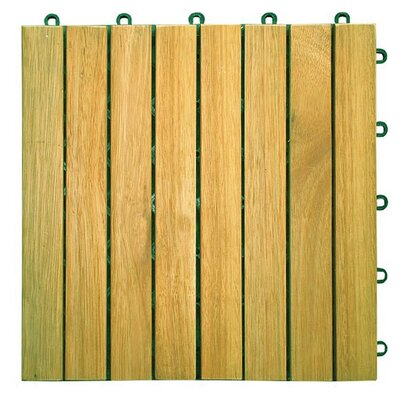 "Vifah Plantation Acacia 11"" x 11"" Interlocking Deck Tiles"