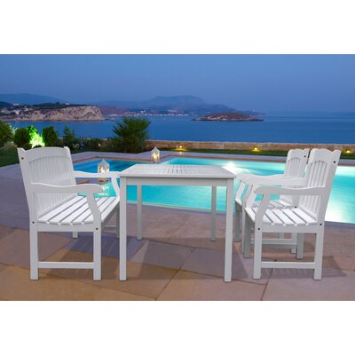 Vifah Bradley 4 Piece Dining Set