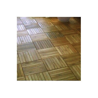 "Vifah Plantation Teak 11"" x 11"" Interlocking Deck Tiles"
