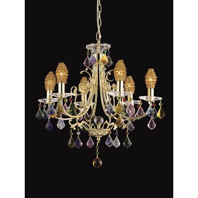 6 Light Yorkshire Crystal Chandelier