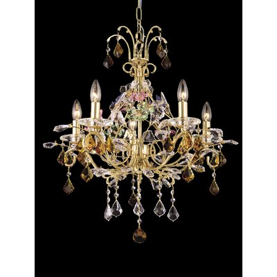 Dale Tiffany 5 Light Harlow Crystal Chandelier