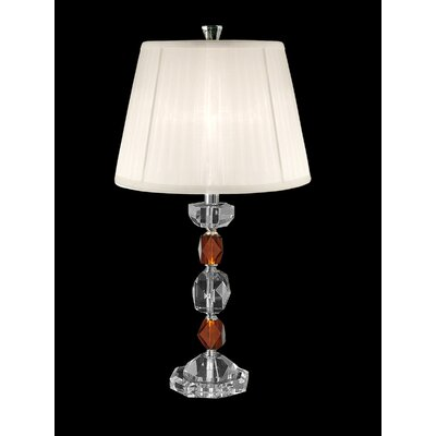 "Dale Tiffany 27.25"" Crystal Table Lamp in Brushed Nickel"