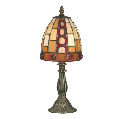 Dale Tiffany Baroque Accent Table Lamp in Antique Brass