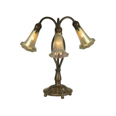 Dale Tiffany Gold Lily Replica 3 Light Table Lamp