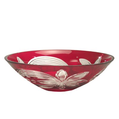Red Floral Decorative Bowl