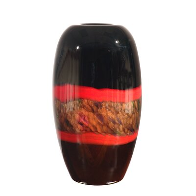 Dale Tiffany Ebony Broad Vase