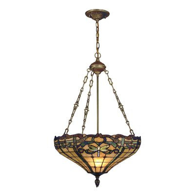 Dale Tiffany Cabrini 3 Light Inverted Pendant
