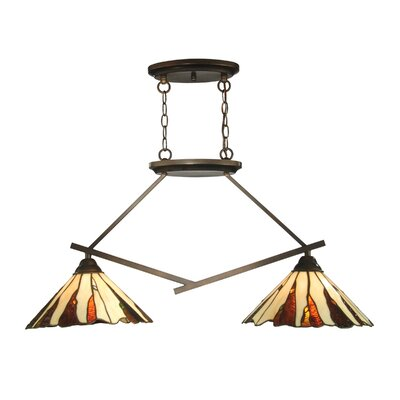 Dale Tiffany Ripley 2 Light Island Fixture