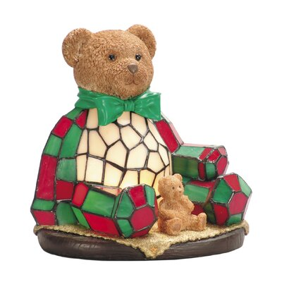 Dale Tiffany Noel Bear One Light Night Table Lamp