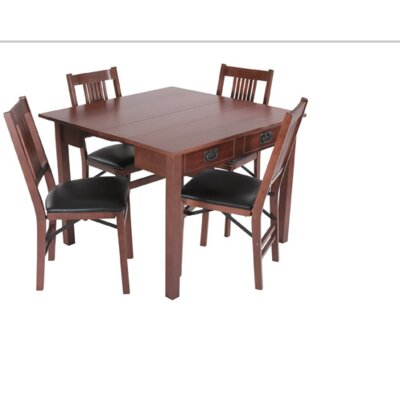 Mission style expanding dining table wayfair for Mission style dining table