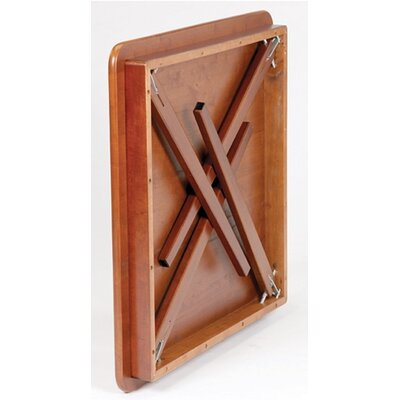 Stakmore Company, Inc. Straight Edge Wood Folding Card Table in Cherry