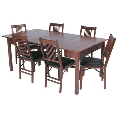 Stakmore Company, Inc. Mission Style Expanding Dining Table