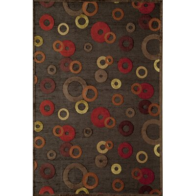 Rugs America Salerno Rust Bubble Rug