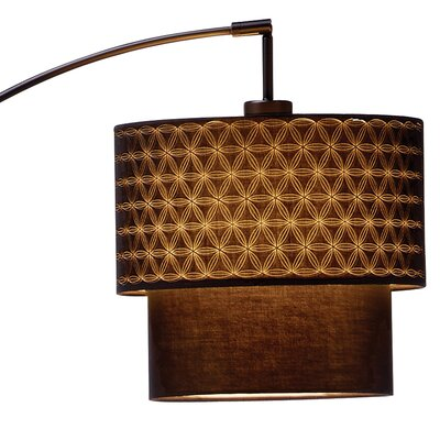 Adesso Gala 1 Light Arched Floor Lamp