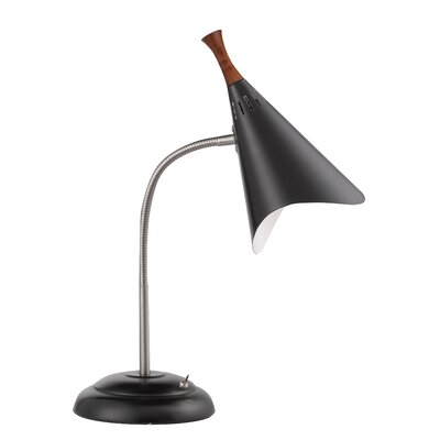"Adesso Draper Gooseneck 18.5"" H Table Lamp with Empire Shade"