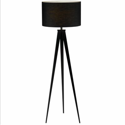 Adesso Director Floor Lamp in Black