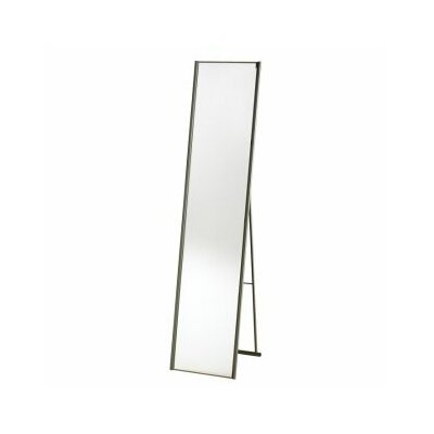 Adesso Alice Floor Mirror in Satin Steel