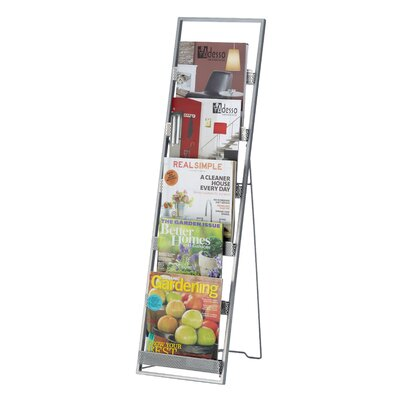 Adesso Editor Tall Magazine Rack