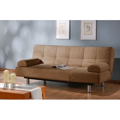 LifeStyle Solutions Casual Microsuede Convertible Sleeper Sofa