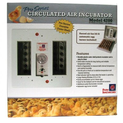 Farm Innovators Pro Series Circulated Air Incubator in White