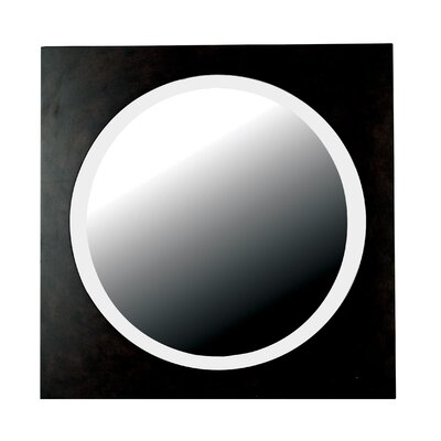 Kenroy Home Eclipse Wall Mirror in Brushed Silver