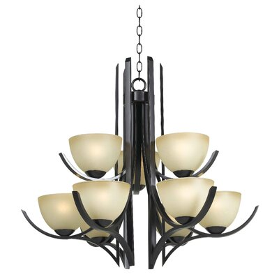 Cypress 9 Light Chandelier