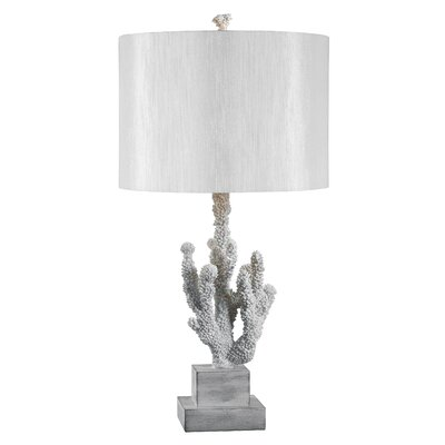 Kenroy Home Coral Table Lamp in White Coral