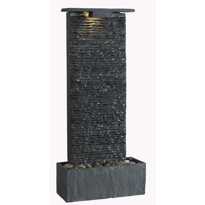 Bedrock Falls Slate Tabletop/Wall Fountain