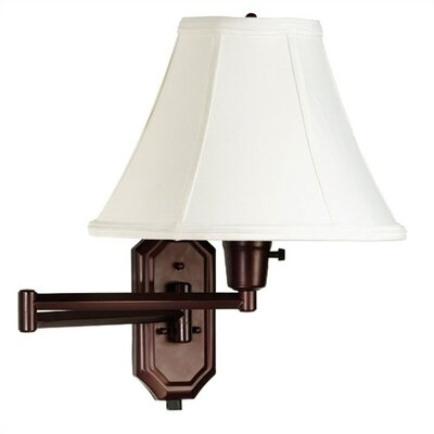 "Kenroy Home Nathaniel 12"" Swing Arm Lamp  in Bronze"