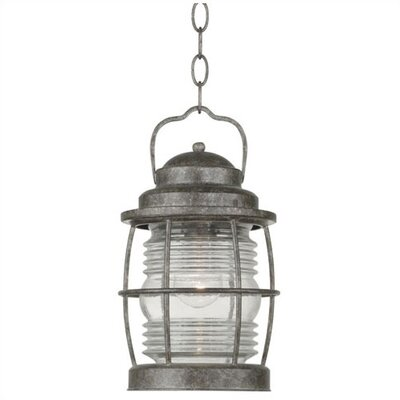Kenroy Home Beacon  Hanging Lantern in Solid Brass Flint