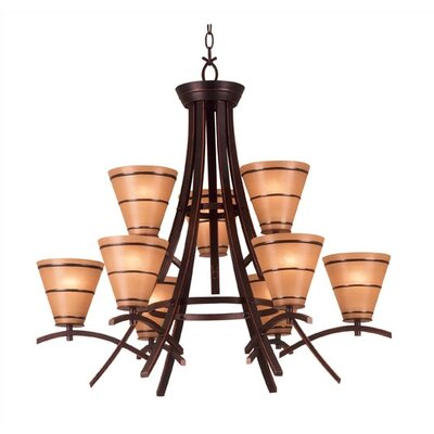 Kenroy Home Wright 9 Light Chandelier