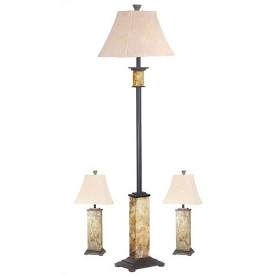 Kenroy Home Bennington Table lamp and Floor Lamp Set