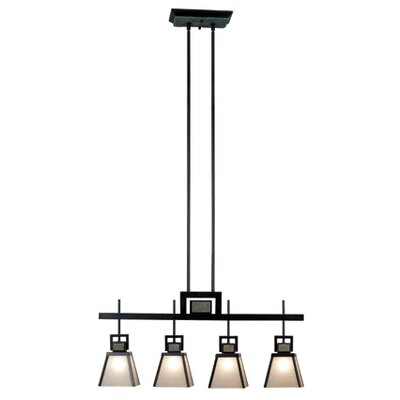 Kenroy Home Clean Slate 4 Light Kitchen Island Pendant