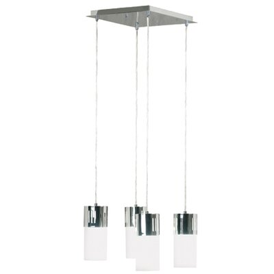 Cylinder 4 Light Square Island Pendant