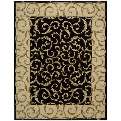 Versaille Palace Black Rug