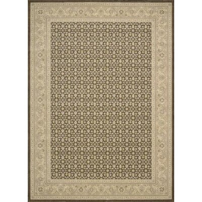 Nourison Persian Empire Chocolate Checked Rug
