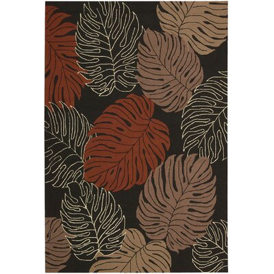 Nourison Rain Forest Black Multi Rug