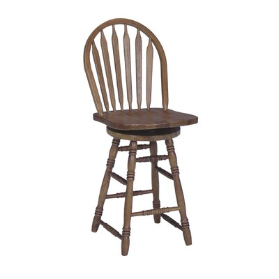 "International Concepts 24"" Arrowback Counter Stool w/ Swivel"