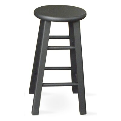 "International Concepts 24"" Roundtop Counter Stool (Black)"