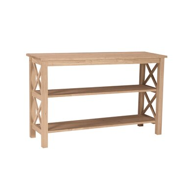 Unfinished Hampton Console Table
