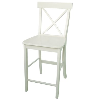 International Concepts Dining Essentials X-Back Counter Height Stool