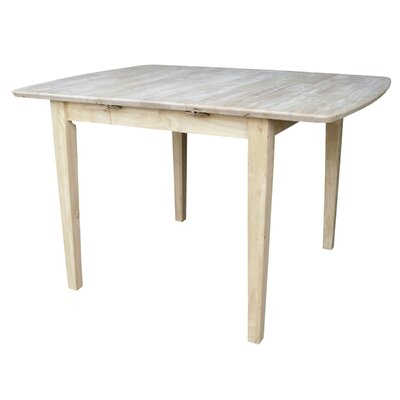 "International Concepts Unfinished 36"" Butterfly Extension Table"