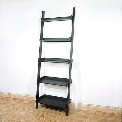 Casual Dining 5 - Tier Leaning Shelf in Black