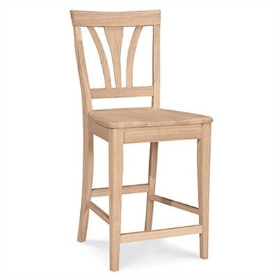 International Concepts Unfinished Fanback Bar Stool