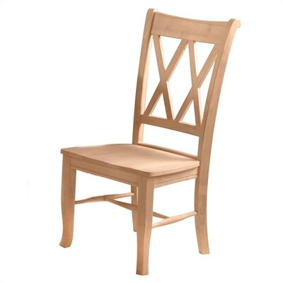 International Concepts Unfinished Wood Double X-Back Side Chair (Set of 2)