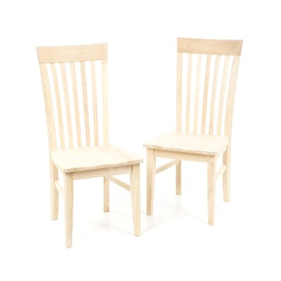 International Concepts Unfinished Tall Mission Side Chair (Set of 2)
